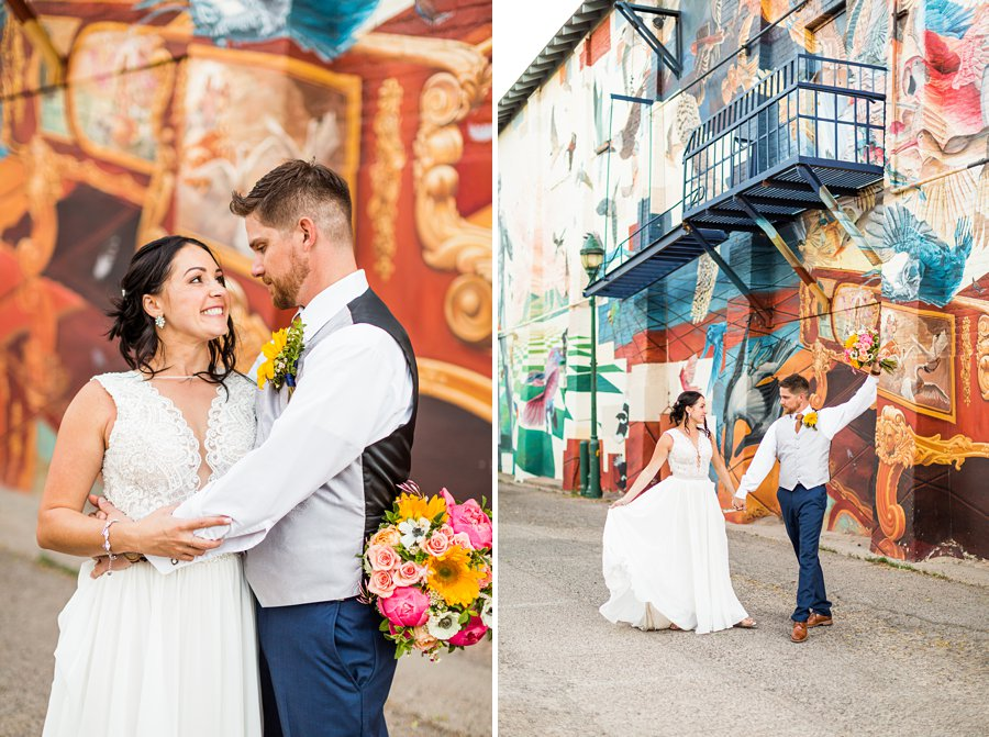 Trish and Mike: Downtown Northern Arizona Elopement best of flagstaff