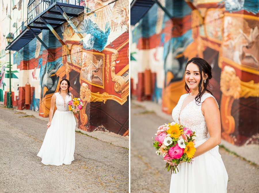 Trish and Mike: Downtown Northern Arizona Elopement colorful places