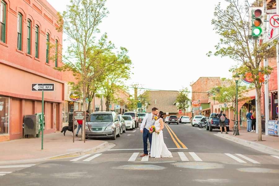 Trish and Mike: Downtown Northern Arizona Elopement downtown flagstaff arizona