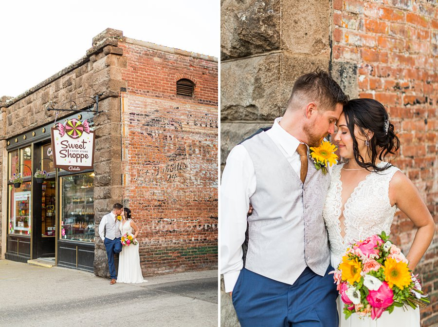 Trish and Mike: Downtown Northern Arizona Elopement sweet shoppe