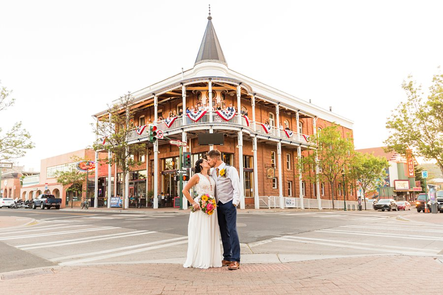 Trish and Mike: Downtown Northern Arizona Elopement hotel historic