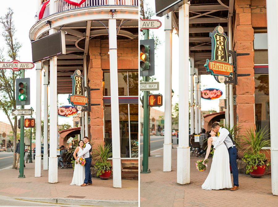 Trish and Mike: Downtown Northern Arizona Elopement charlys