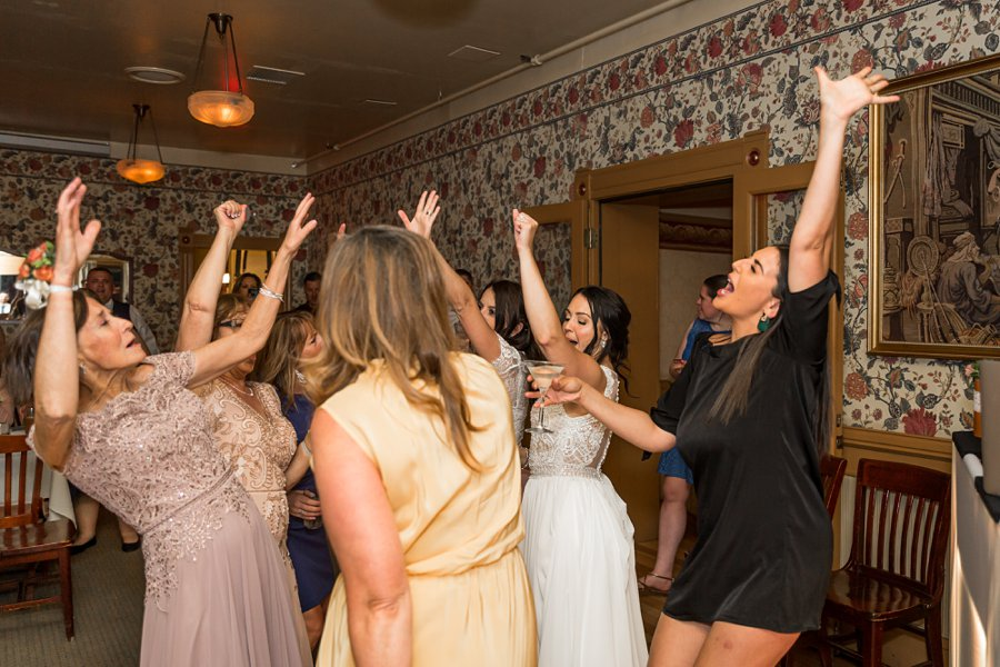 Trish and Mike: Downtown Northern Arizona Elopement bride dancing