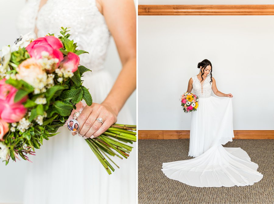 Trish and Mike: Downtown Northern Arizona Elopement bride and wedding dress