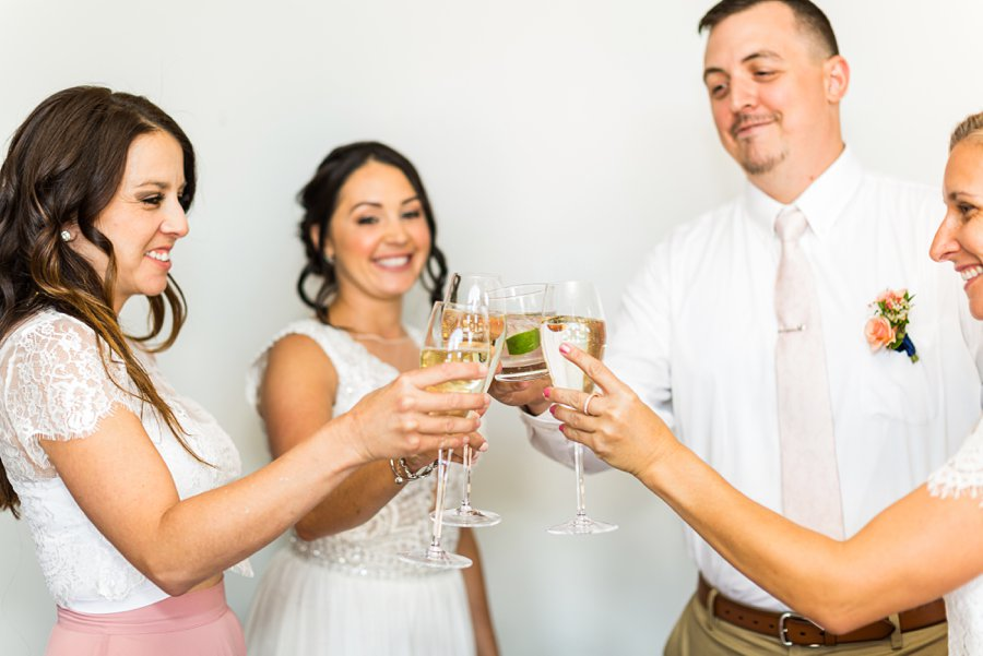 Trish and Mike: Downtown Northern Arizona Elopement bridal party cheers