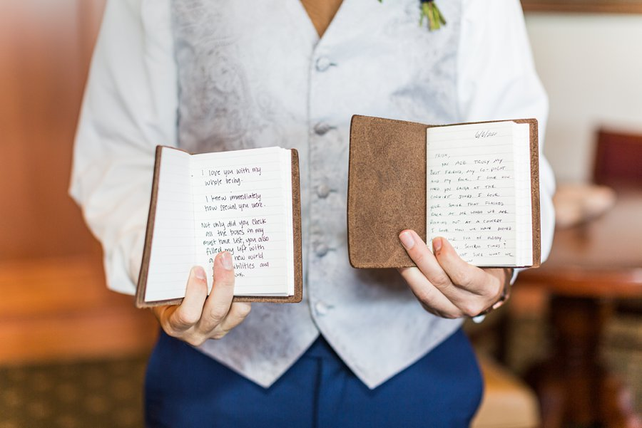 Trish and Mike: Downtown Northern Arizona Elopement vow books