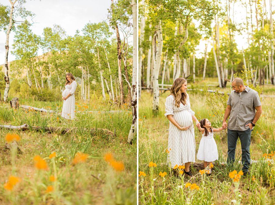 Alvarado Family: Northern Arizona Family Photography wildflowers in the summer