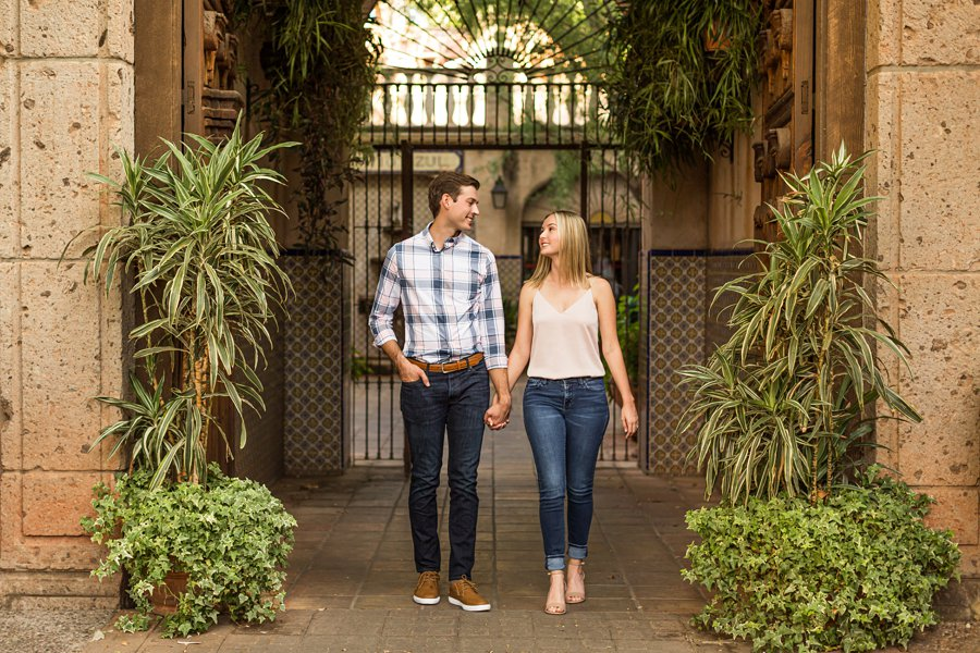 Brooke and Will: Tlaquepaque Sedona Engagement Photographer best places to visit in sedona