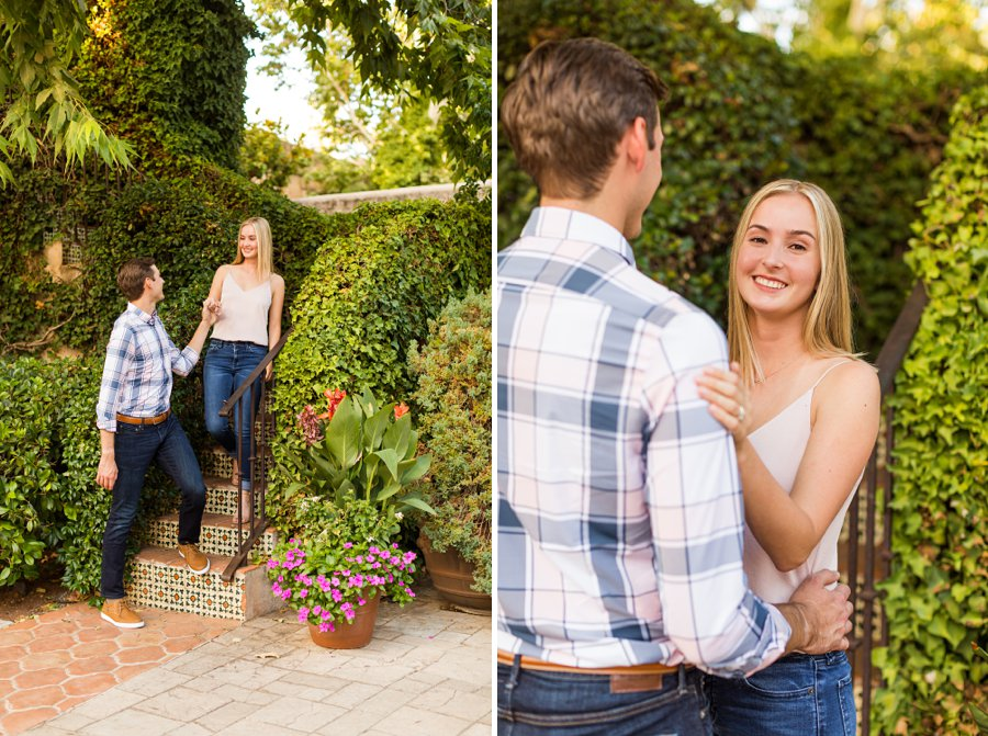 Brooke and Will: Tlaquepaque Sedona Engagement Photographer highest reviews
