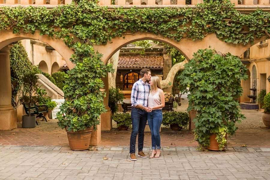 Brooke and Will: Arizona Portrait Photography couple and greenery