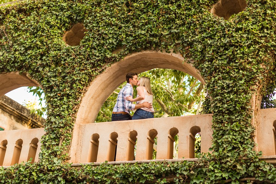 Brooke and Will: Arizona Portrait Photography framed with greenery