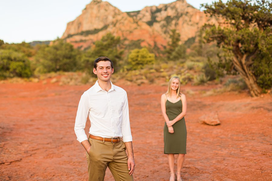 Brooke and Will: Tlaquepaque Sedona Engagement Photographer best in sedona