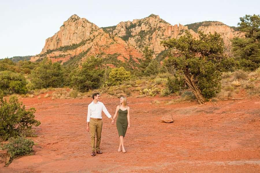 Brooke and Will: Arizona Portrait Photography red rocks sunset