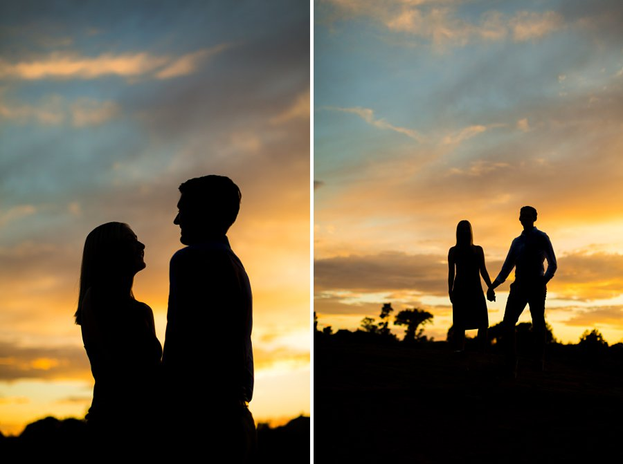 Brooke and Will: Arizona Portrait Photography silhouette sunset colorful