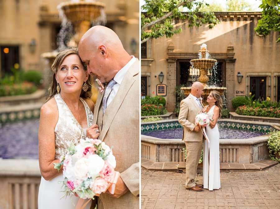 Kimberly and Mark: Sedona Tlaquepaque Wedding Photographer art village elopement