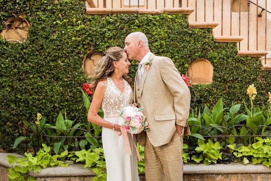 Kimberly and Mark: Sedona Tlaquepaque Wedding Photographer green and lush summertime
