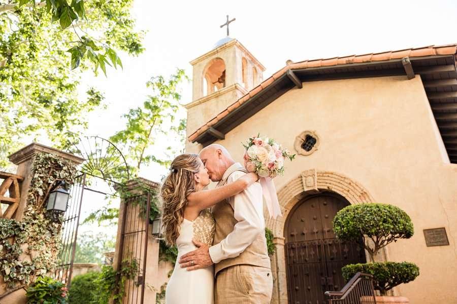 Kimberly and Mark: Sedona Tlaquepaque Wedding Photographer church perspective