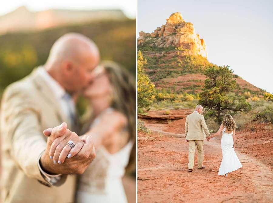 Kimberly and Mark: Arizona Elopement Photography wedding rings
