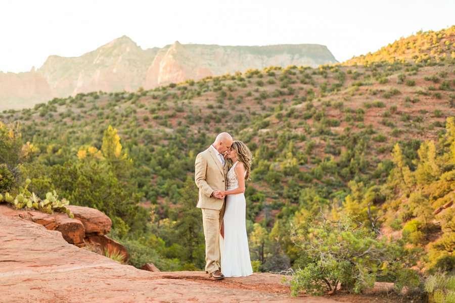 Kimberly and Mark: Arizona Elopement Photography intimate couple