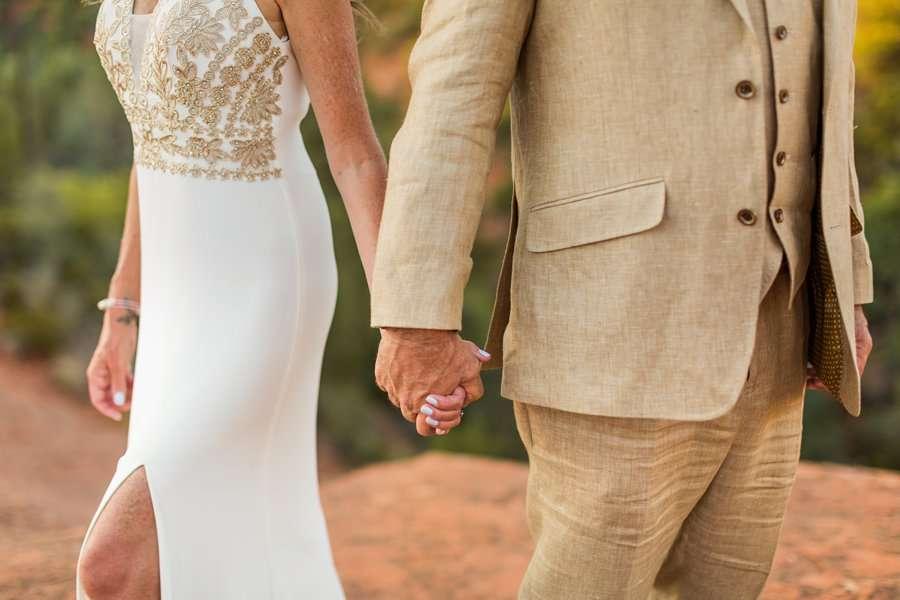 Kimberly and Mark: Arizona Elopement Photography holding hands