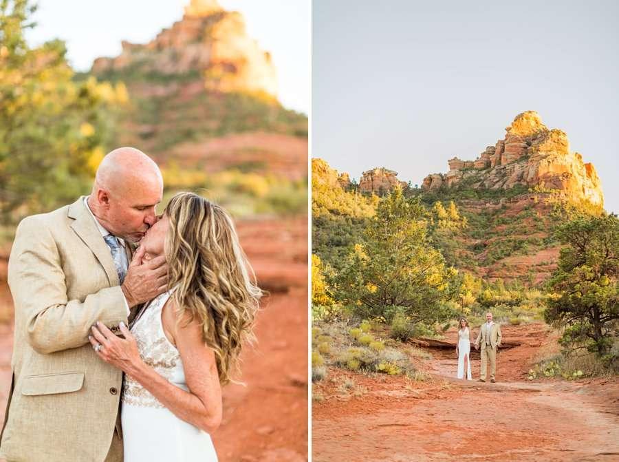 Kimberly and Mark: Arizona Elopement Photography sedona sunset session
