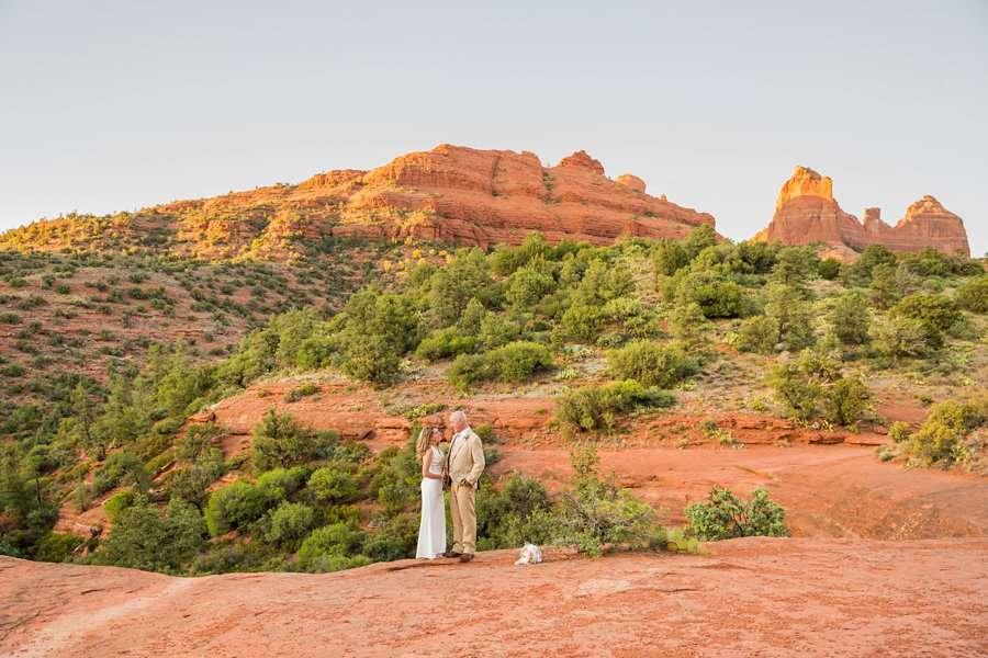 Kimberly and Mark: Arizona Elopement Photography red rocks of sedona