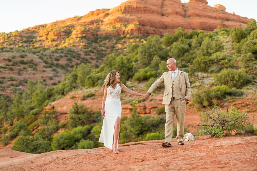 Kimberly and Mark: Arizona Elopement Photography bride and groom