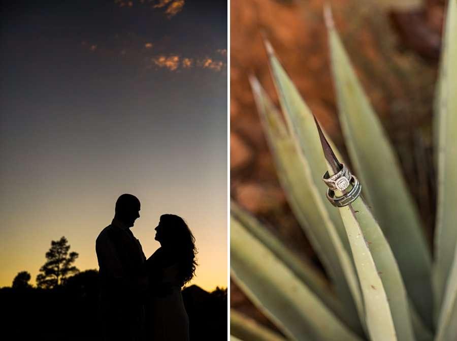 Kimberly and Mark: Arizona Elopement Photography silhouette sunset
