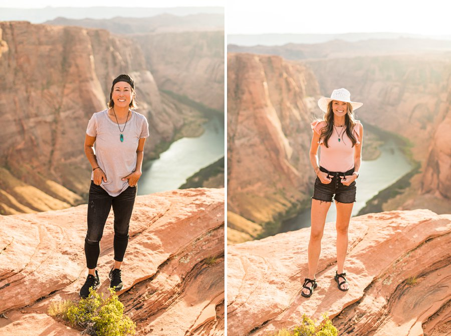 Leah and Rosey: Horseshoe Bend Engagement Photographer individual shots