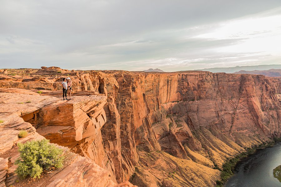 Leah and Rosey: Page Arizona Portrait Photography horseshoe bend at sunset