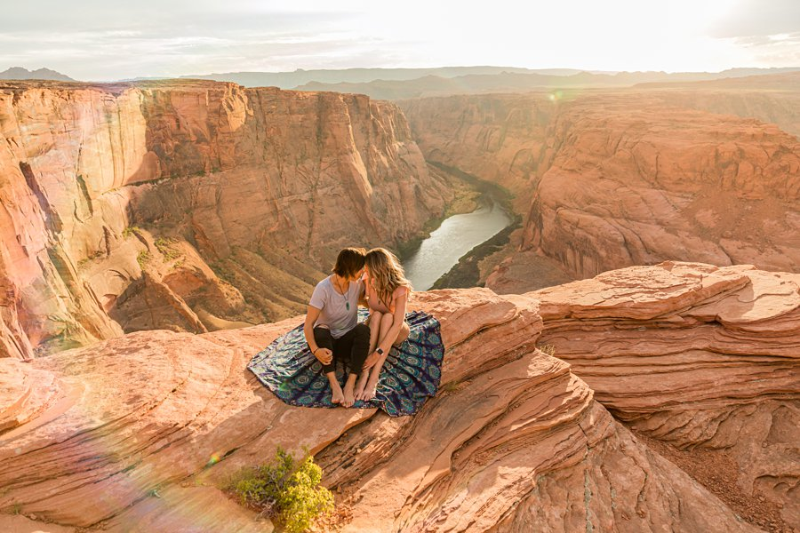 Leah and Rosey: Page Arizona Portrait Photography horseshoe bend