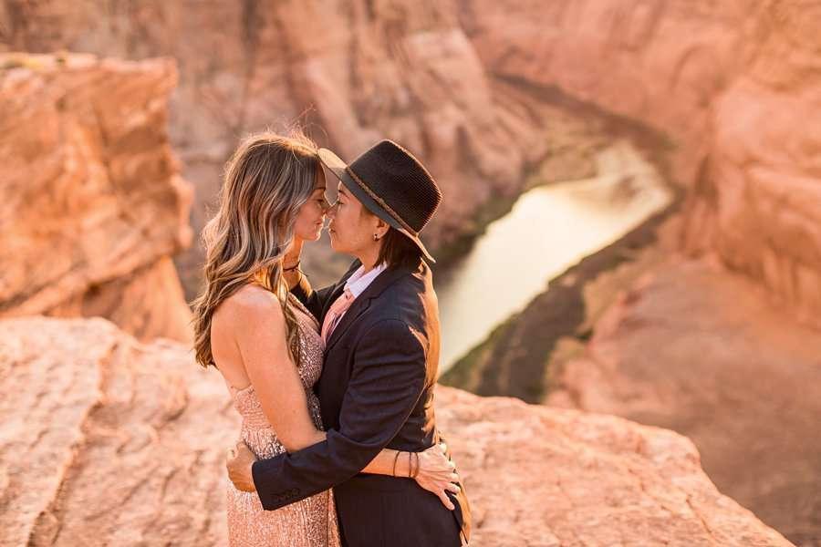 Leah and Rosey: Page Arizona Portrait Photography overlook arizona susset