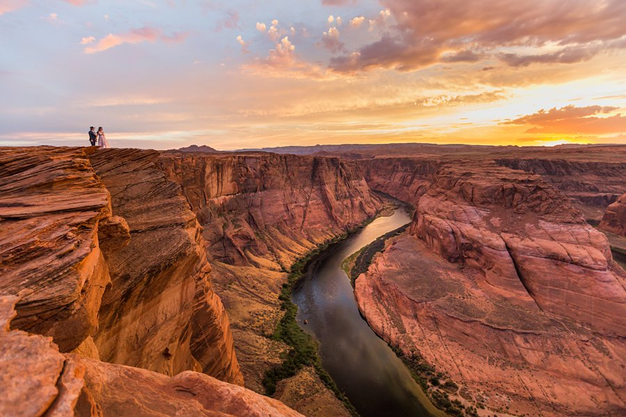 Leah and Rosey: Page Arizona Portrait Photography sunset overlook grand canyon