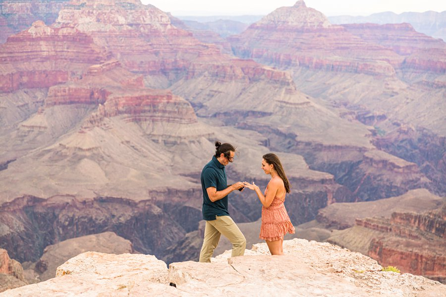 Olivia and Reagan: Grand Canyon National Park Proposal she said yes