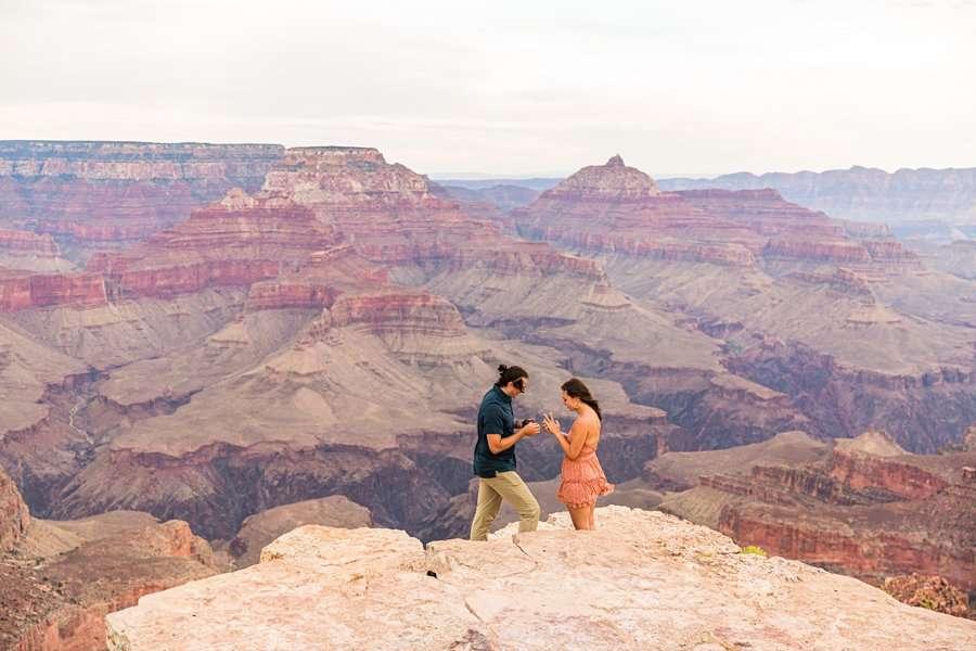 Olivia and Reagan: Northern Arizona Engagement Photographers GCNP