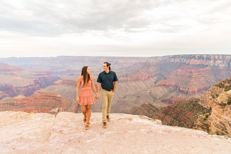 Olivia and Reagan: Northern Arizona Engagement Photographers she said yes