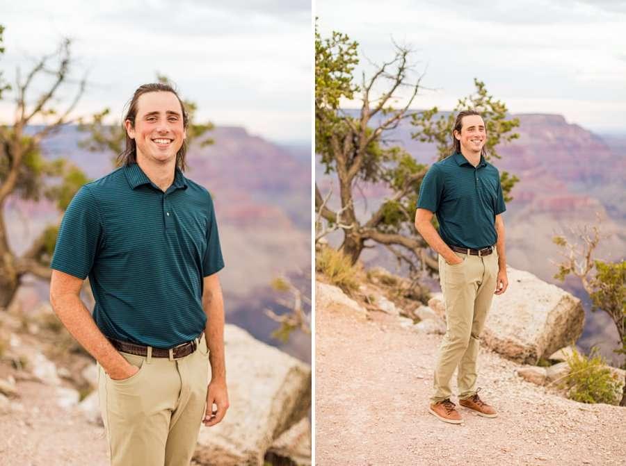 Olivia and Reagan: Northern Arizona Engagement Photographers man solo portrait
