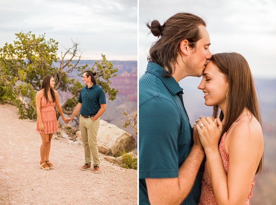 Olivia and Reagan: Northern Arizona Engagement Photographers kisses