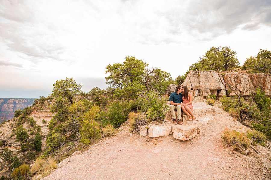 Olivia and Reagan: Northern Arizona Engagement Photographers scencic landscapes