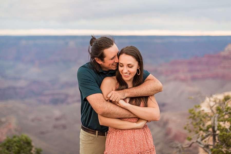 Olivia and Reagan: Northern Arizona Engagement Photographers joy