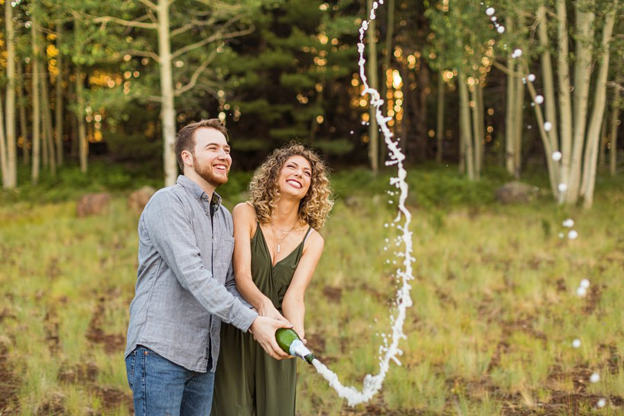 Ryan and Cierra: Flagstaff Arizona Proposal Photographer celebration