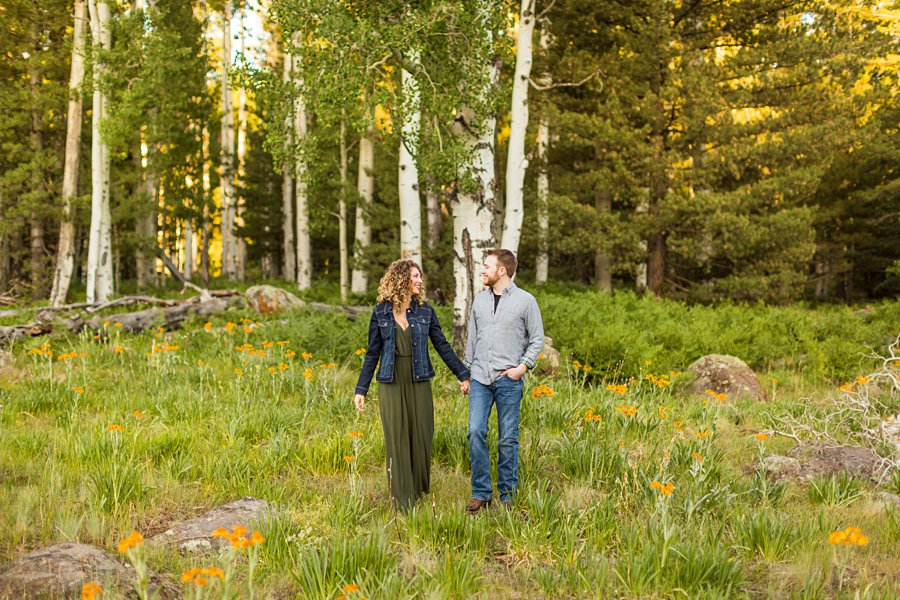 Ryan and Cierra: Arizona Engagement Photography northern arizona summer wildflowers