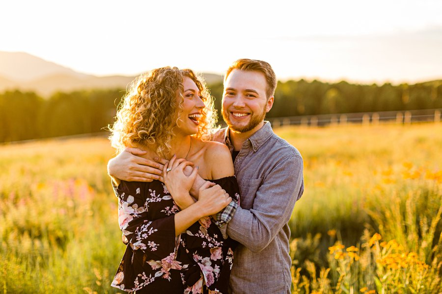 Ryan and Cierra: Arizona Engagement Photography hart prairie