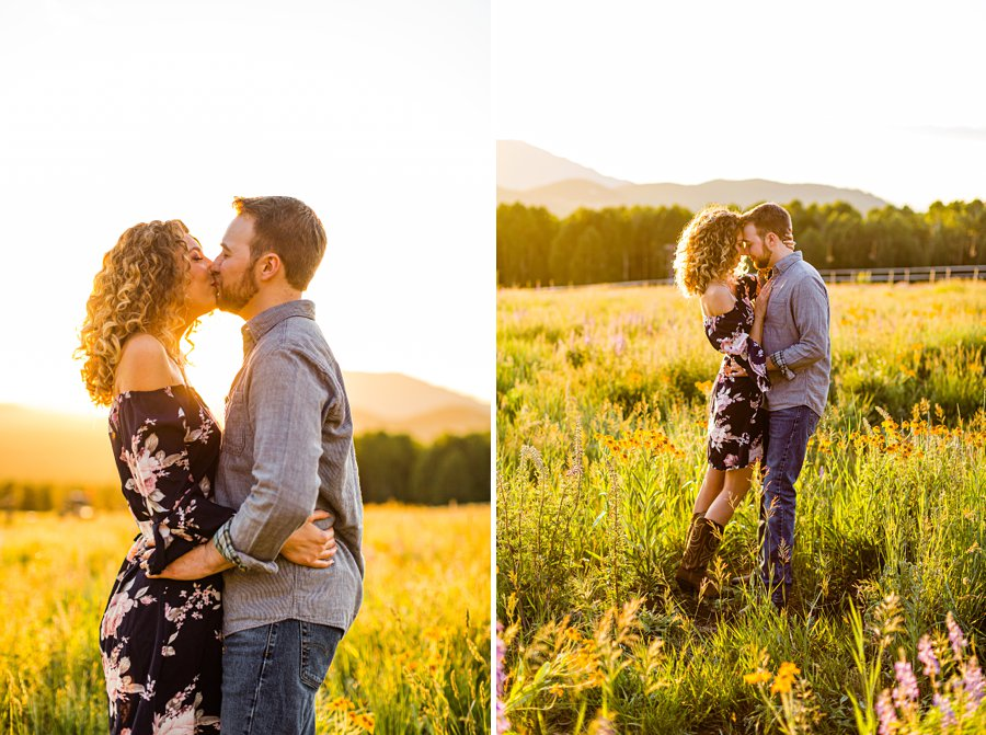 Ryan and Cierra: Arizona Engagement Photography meadow
