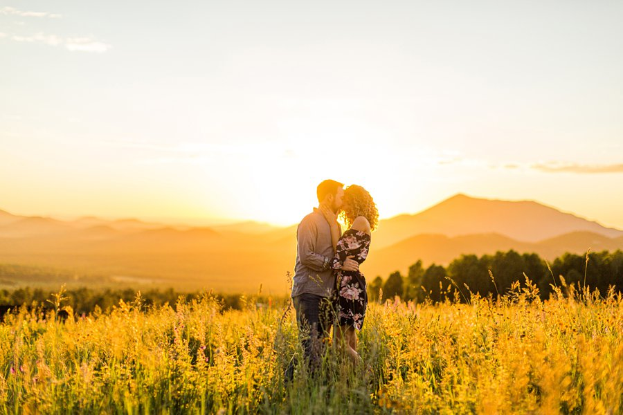 Ryan and Cierra: Arizona Engagement Photography silhouette