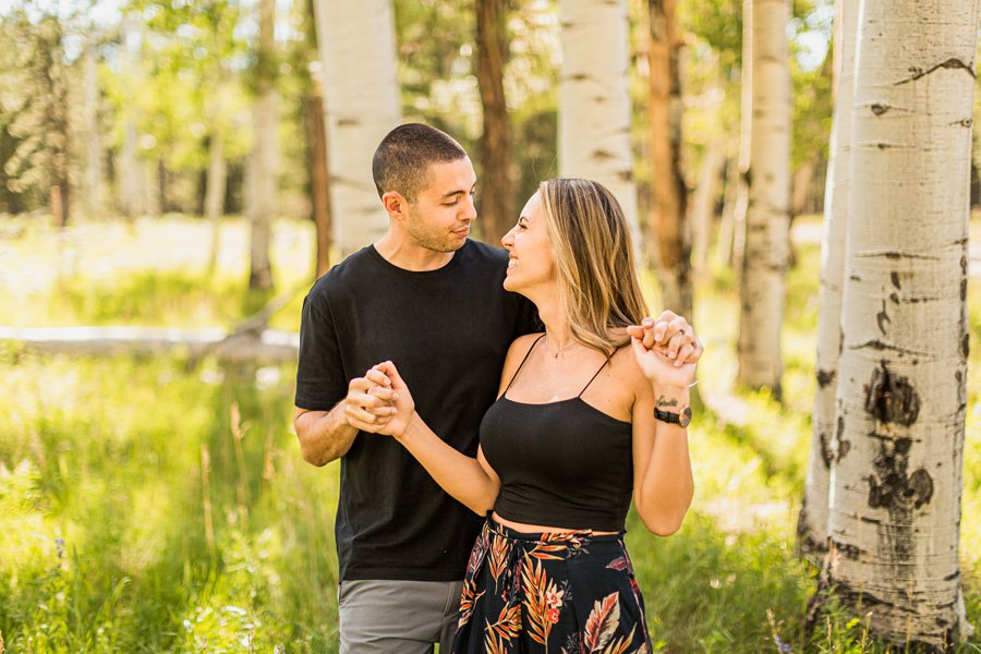 Taylor and Tommy: Northern Arizona National Park Portrait Photography aspen trees