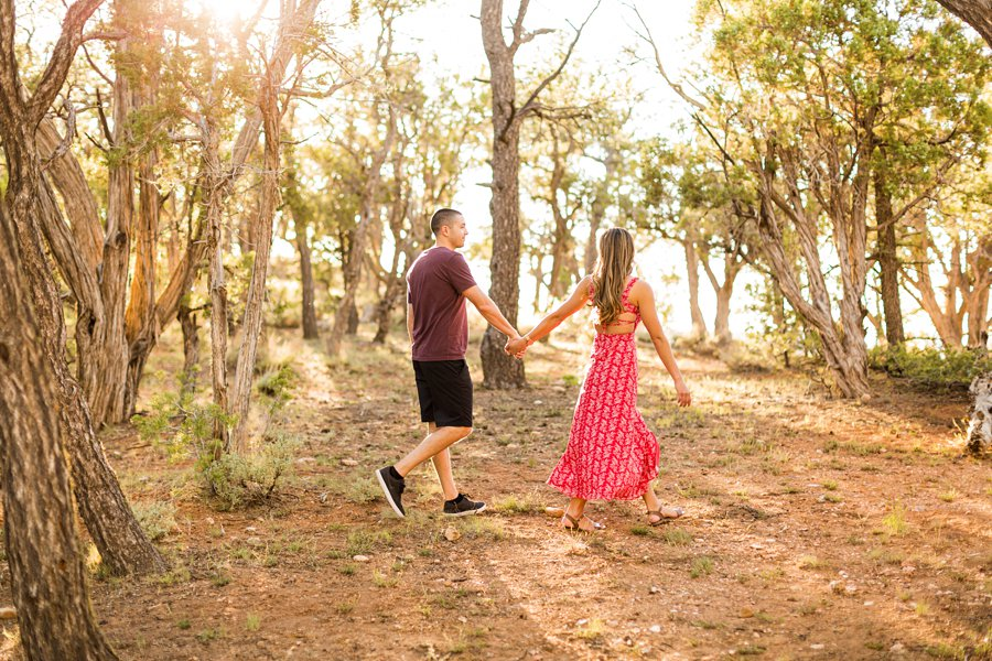 Taylor and Tommy: Northern Arizona National Park Portrait Photography walking poses for couples