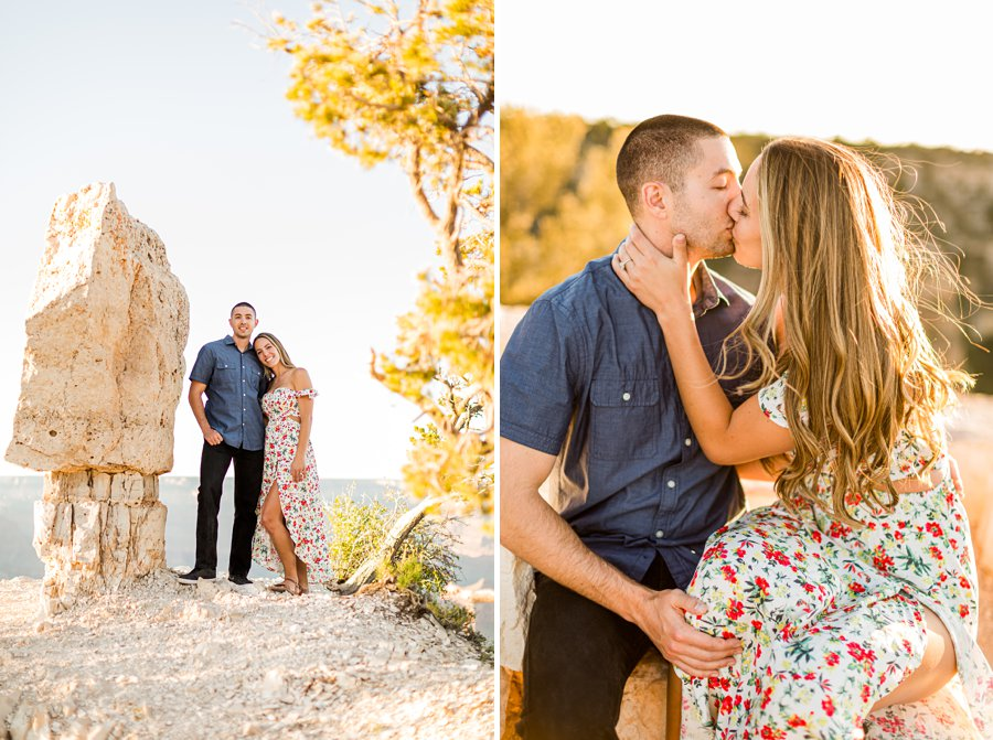 Taylor and Tommy: Northern Arizona National Park Portrait Photography sunset golden hour