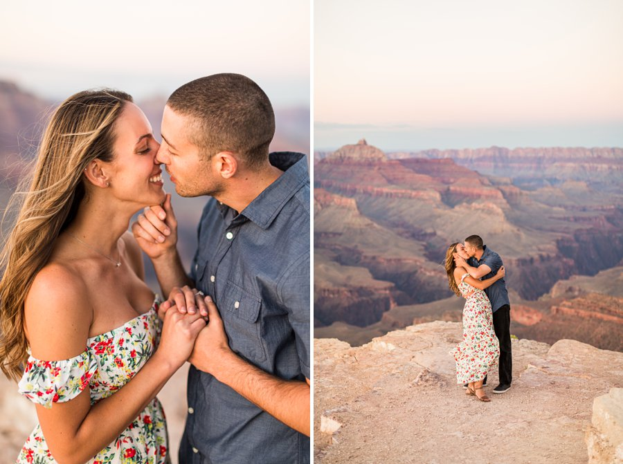 Taylor and Tommy: Grand Canyon Engagement Photographers best locations