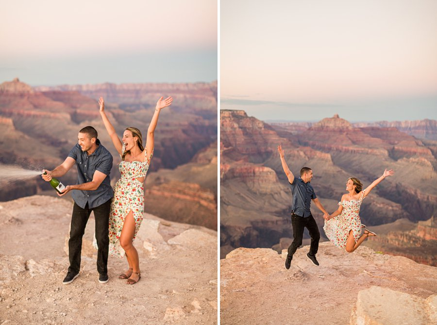 Taylor and Tommy: Northern Arizona National Park Portrait Photography playful and fun poses for couples